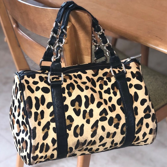 Express Handbags - Express cheetah print Satchel